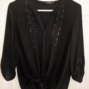Ladies Black Blouse